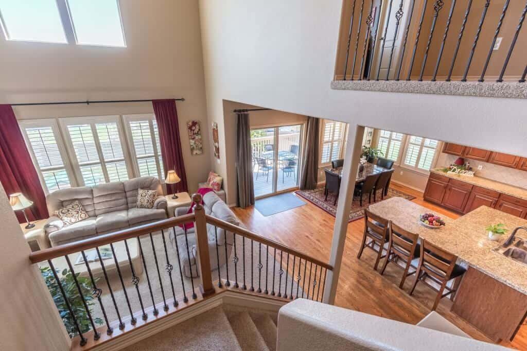 Upper View of Kitchen, Nook, Great Room