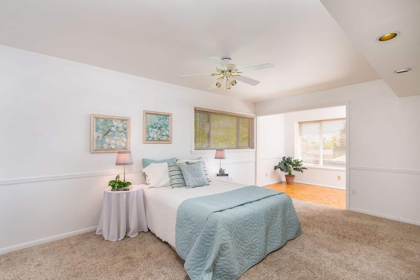 Main Level Master Bedroom with Sunroom