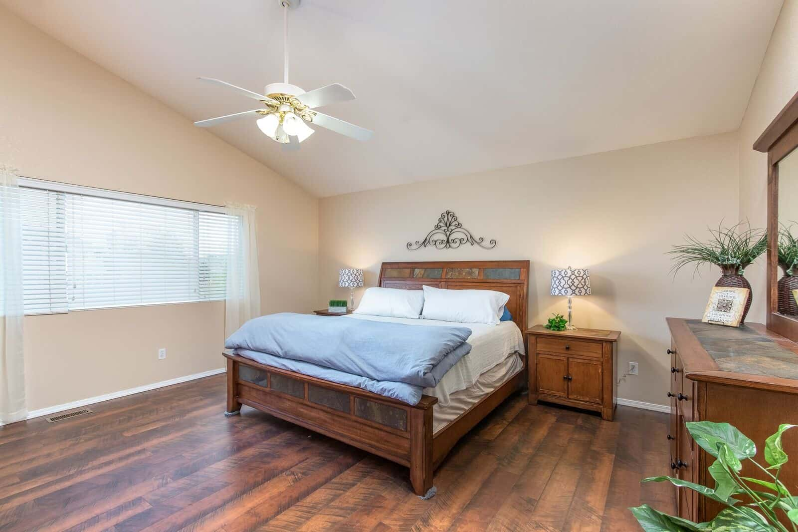 Upper Master Bedroom with Wood Flooring