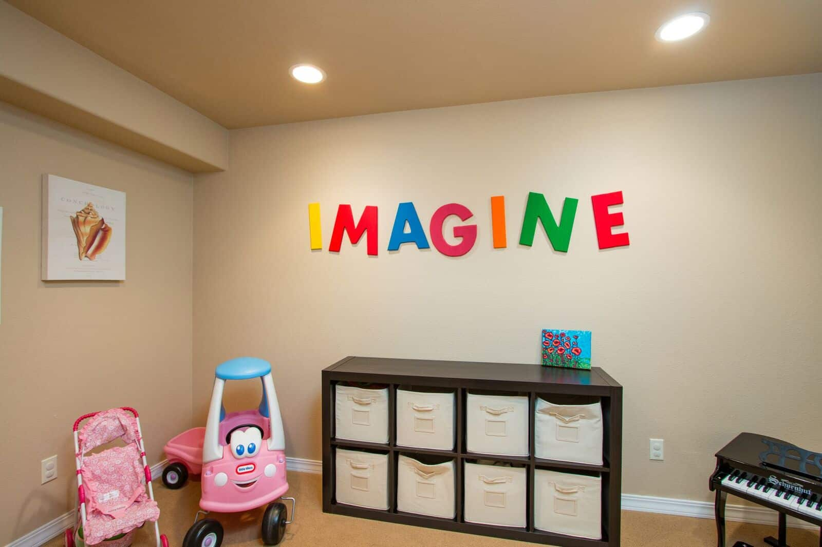 Basement Play Rm or Storage