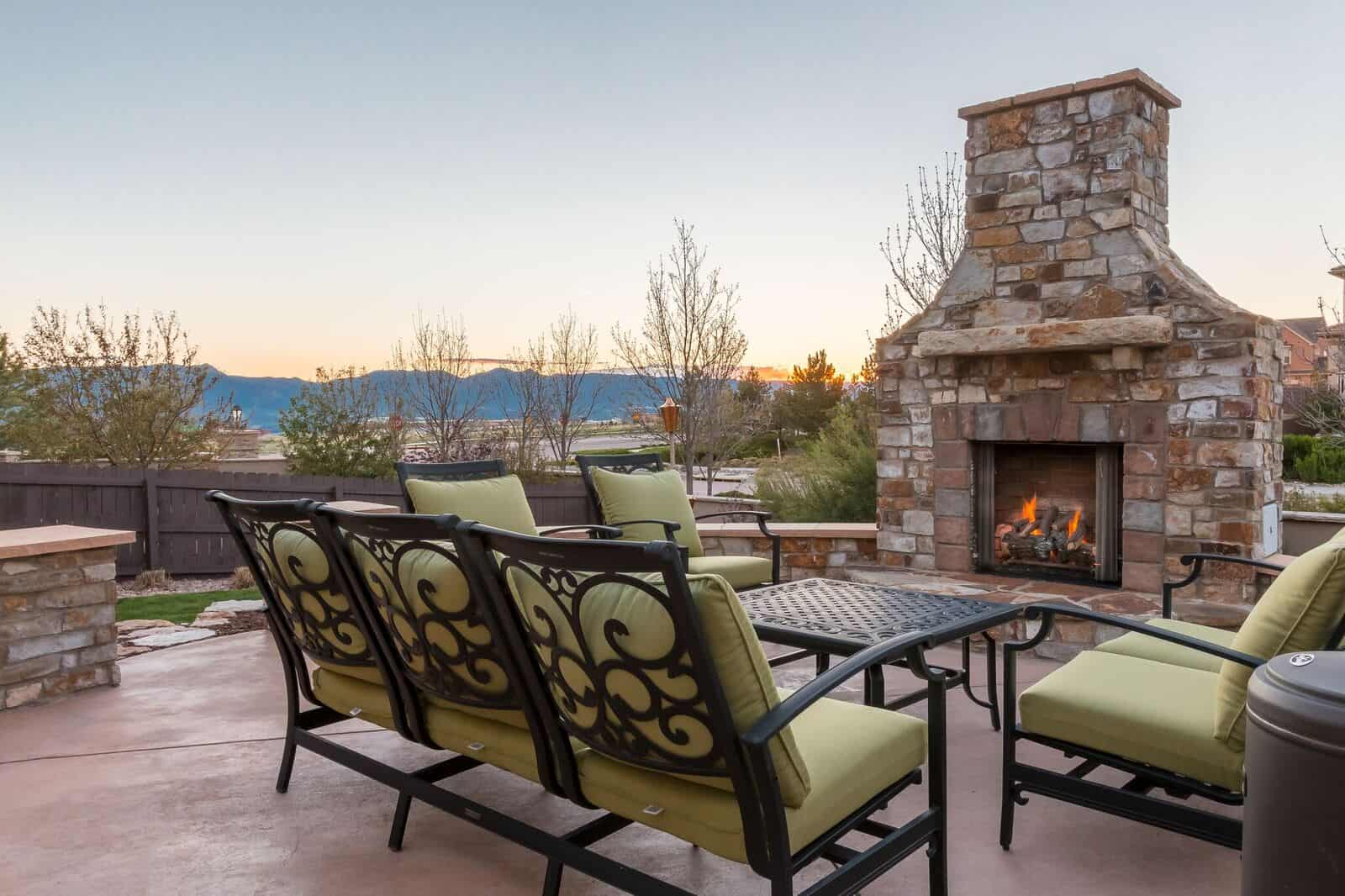Enjoy a Toasty Fire and Stunning Mountain Views