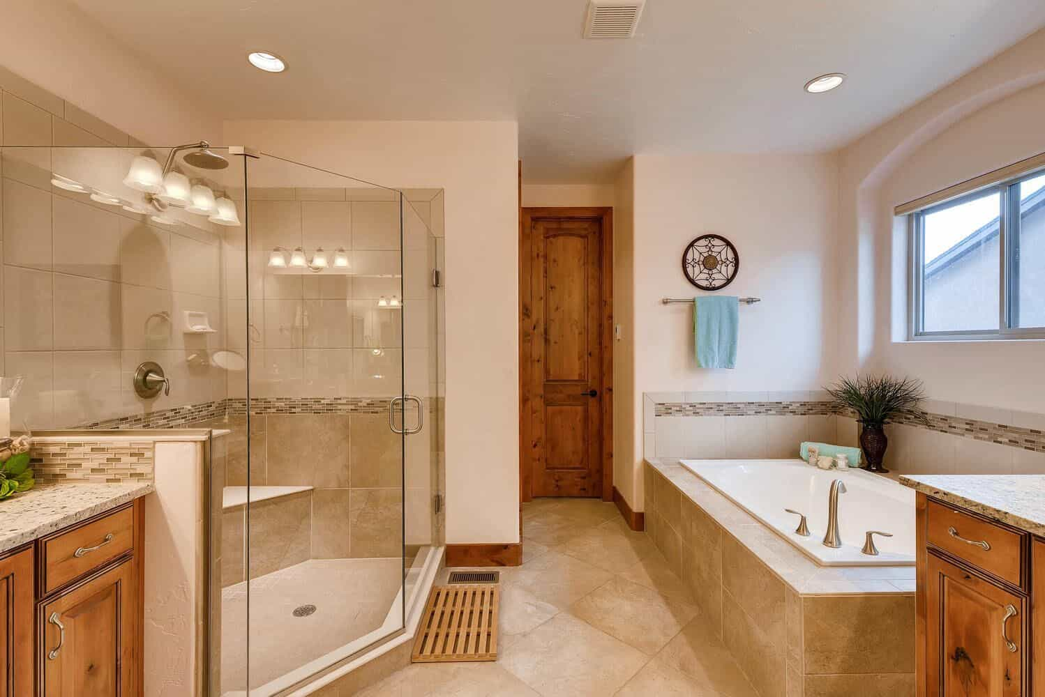 Spa Master Bathroom with Walkin Closet