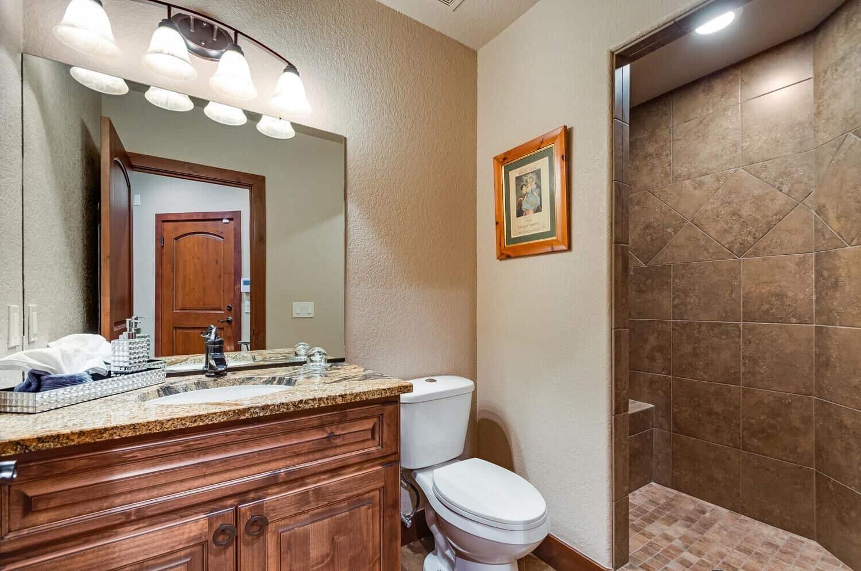 Garage Level Bathroom with Shower