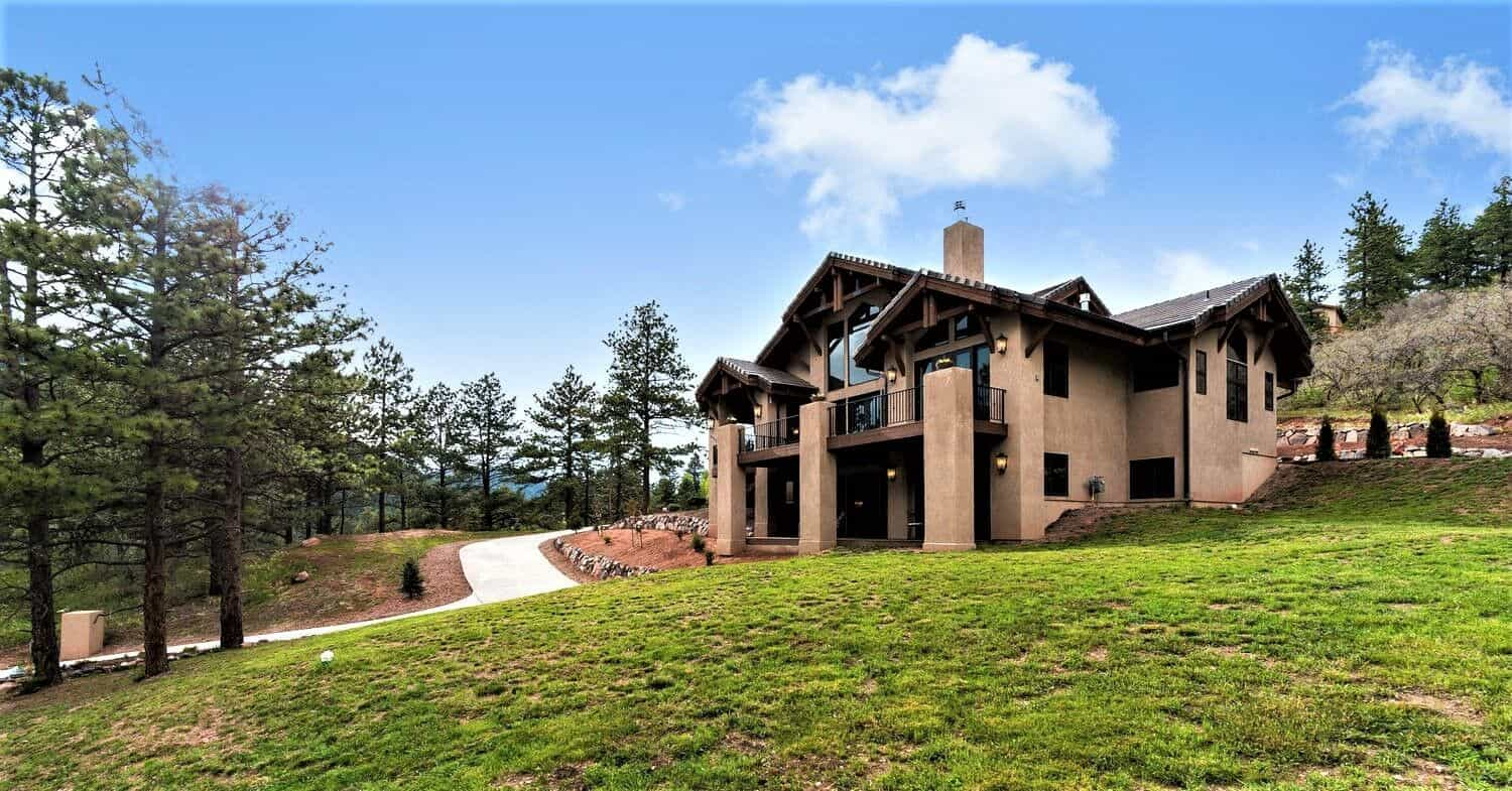 Front of Mountain Estate Home