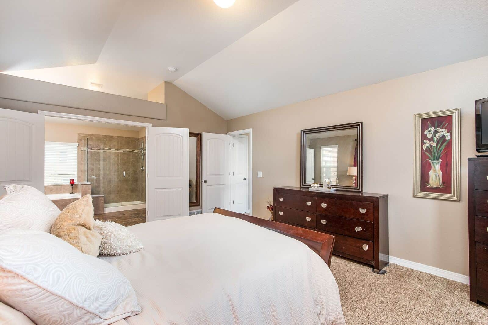 Master Bedroom showing Bath and Entry