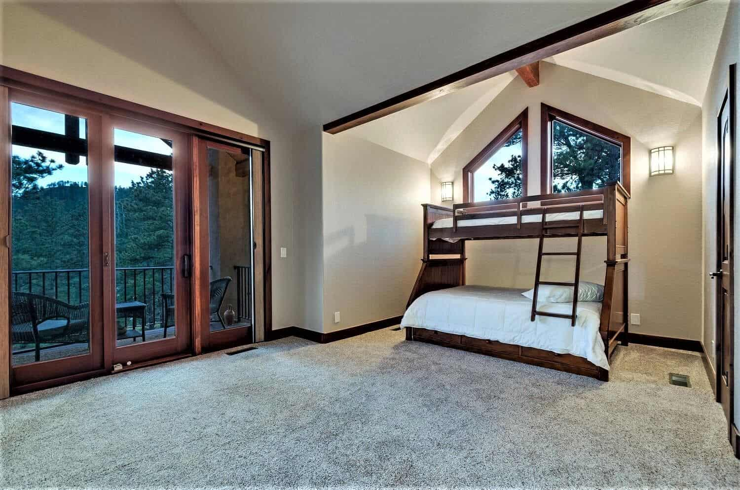 Upper Bedroom 3 with Walkin Closet and Ensuite Bathroom and Covered Deck