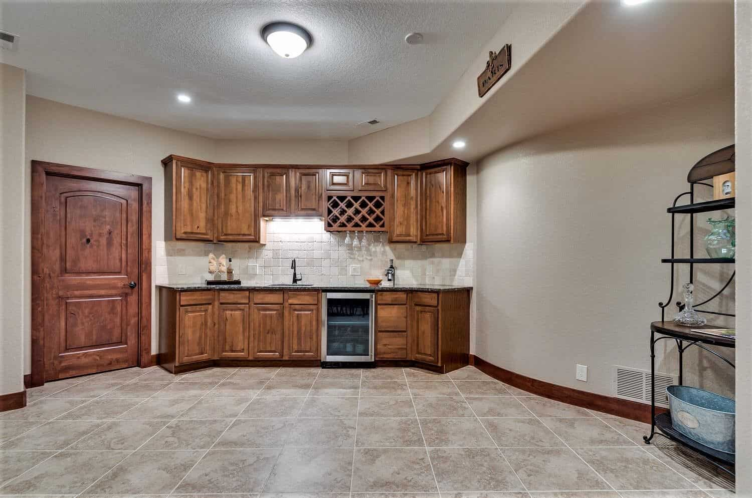 Large Basement Wet Bar Kitchenette Area