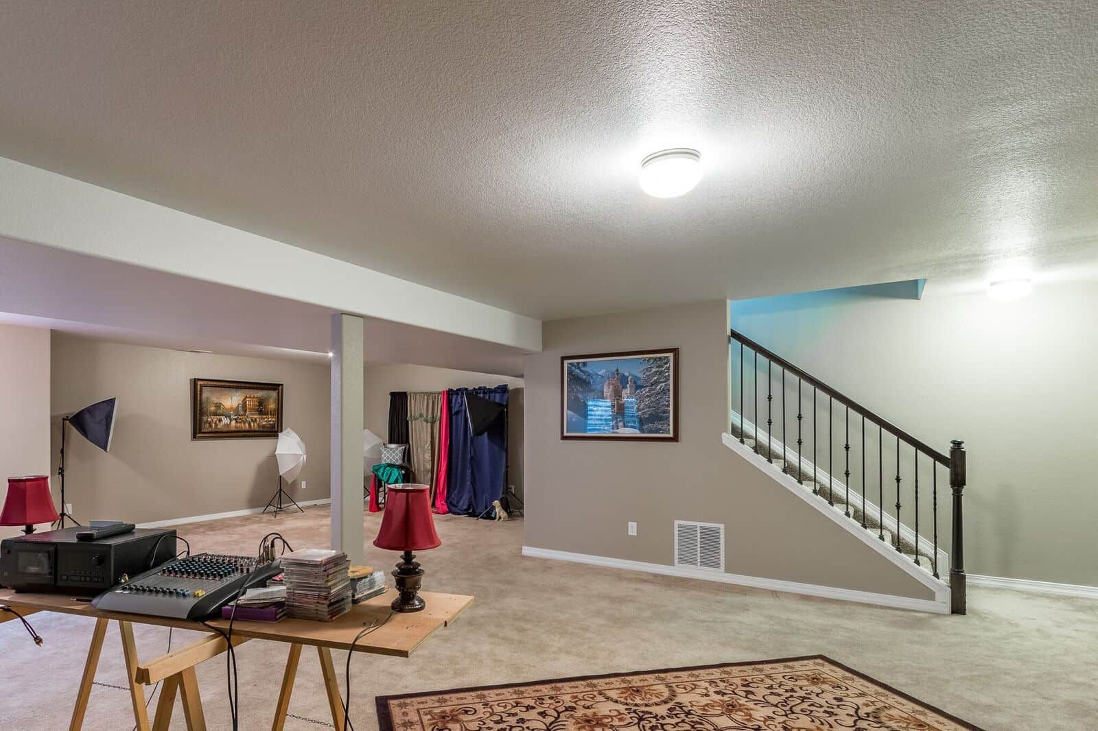 Basement Family Room w/Large BR4 currently used as Storage
