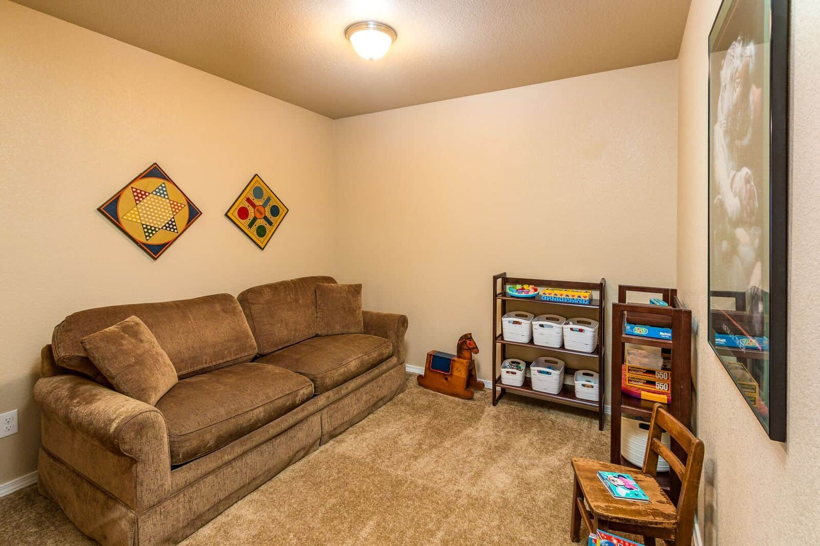 Extra Area off Basement for Office, Gym or Gaming