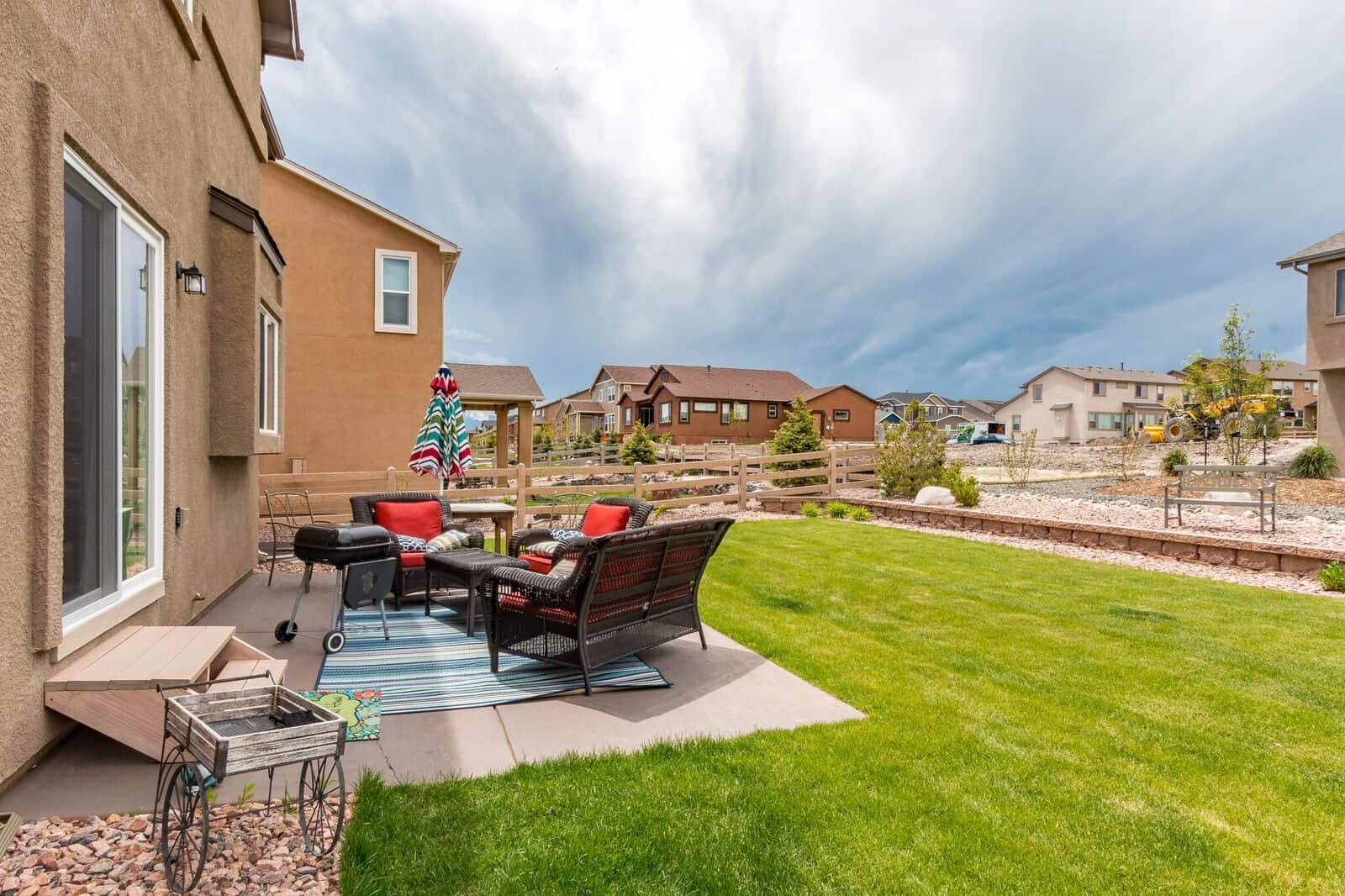 Rear Patio and Yard with Views