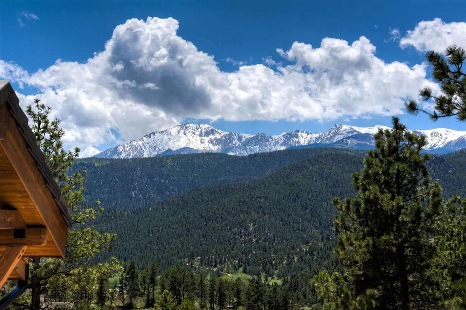 Pikes Peak Views off the Front Deck