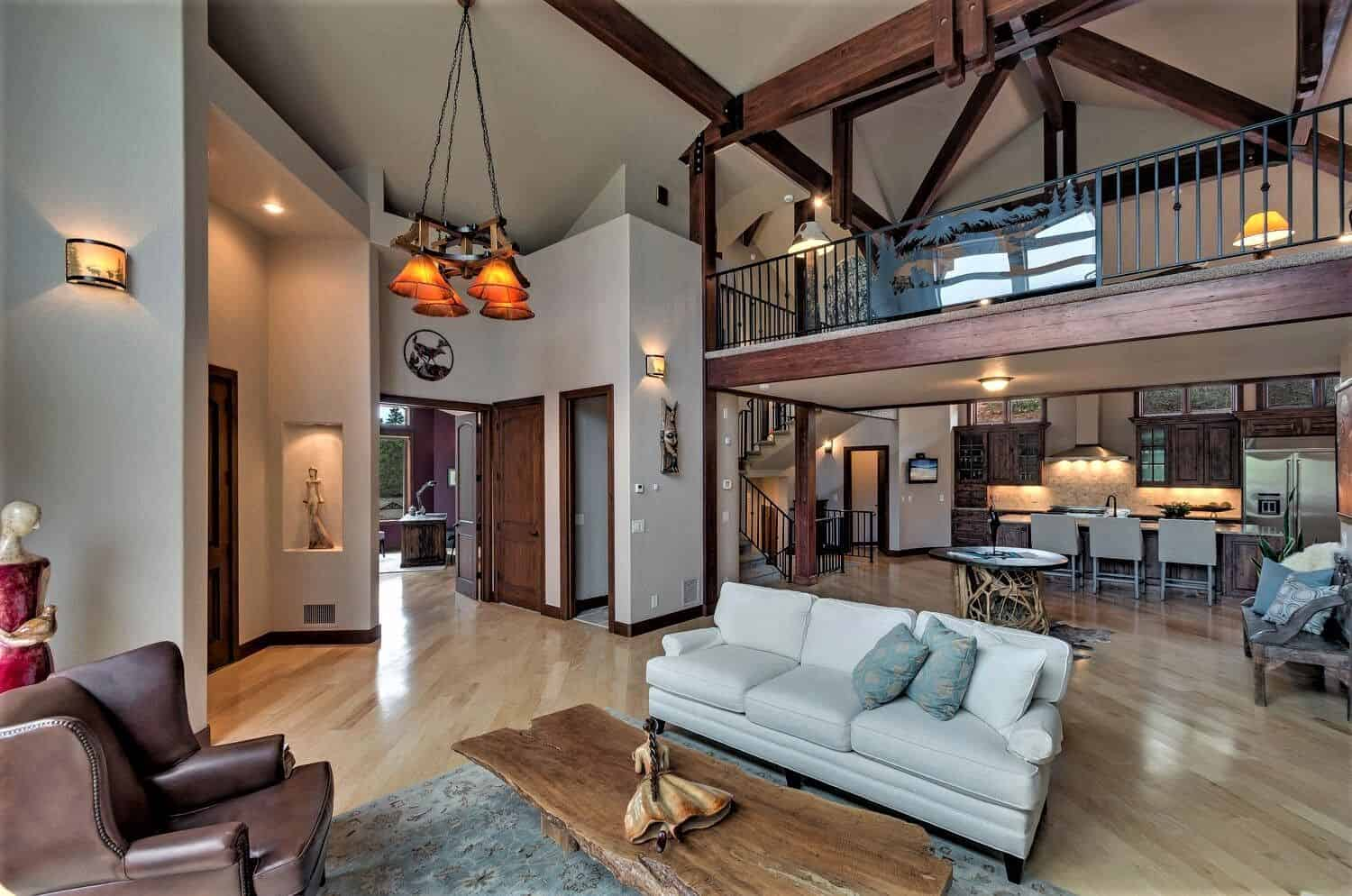 Great Room, Loft and Kitchen