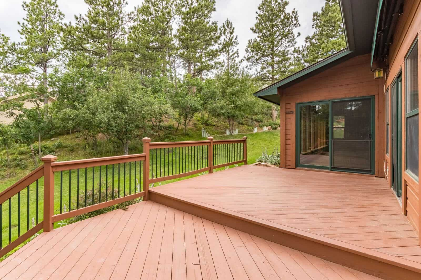 Walk-Out to Deck from Sunroom