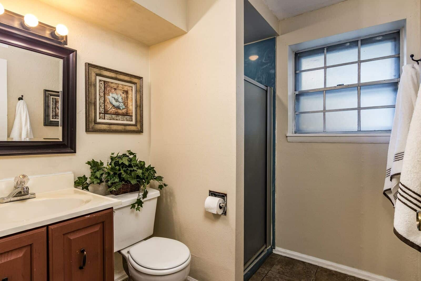 Lower Bathroom off Laundry