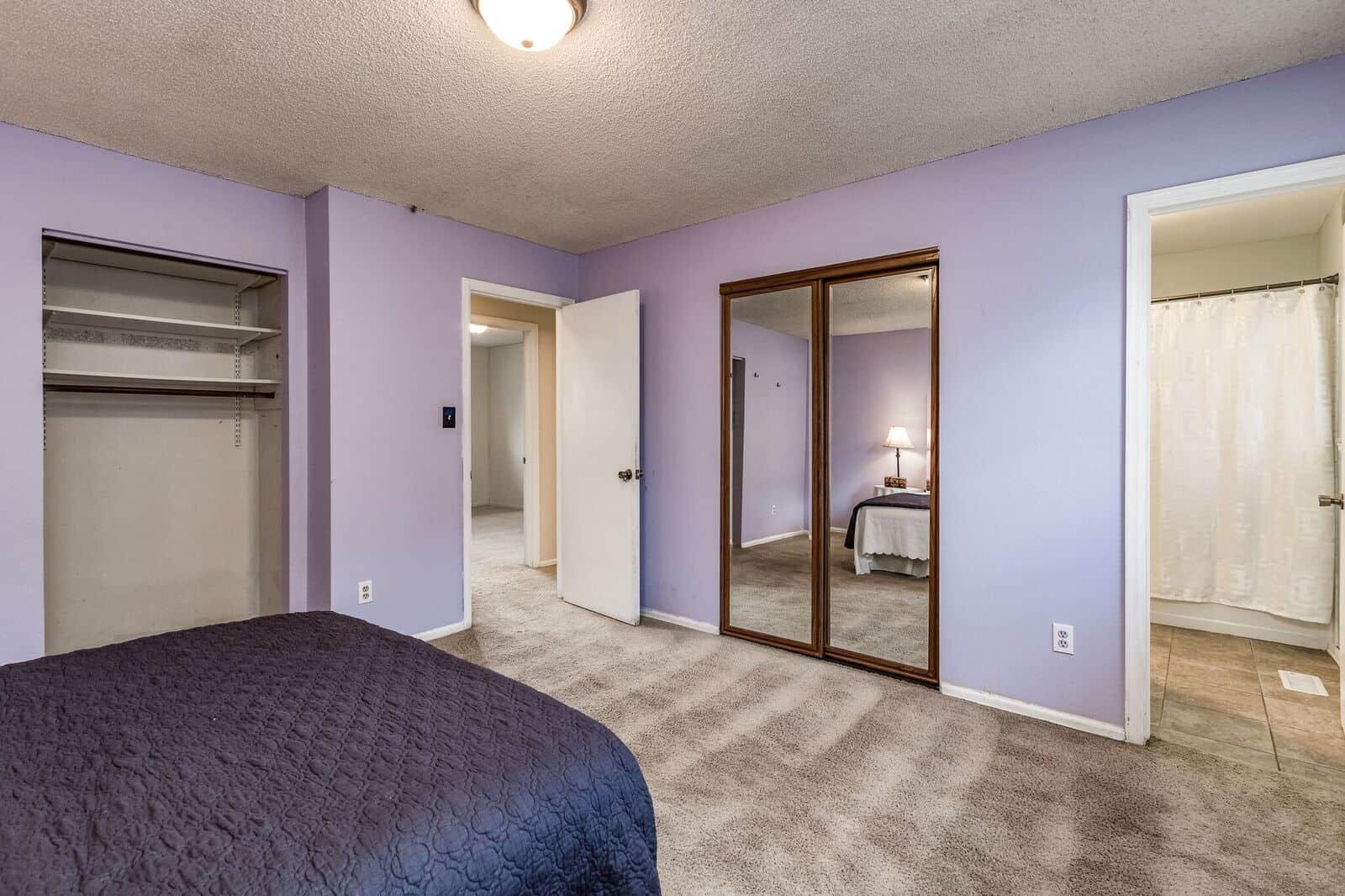 Master Bedroom with 2 Closets and Attached Bath