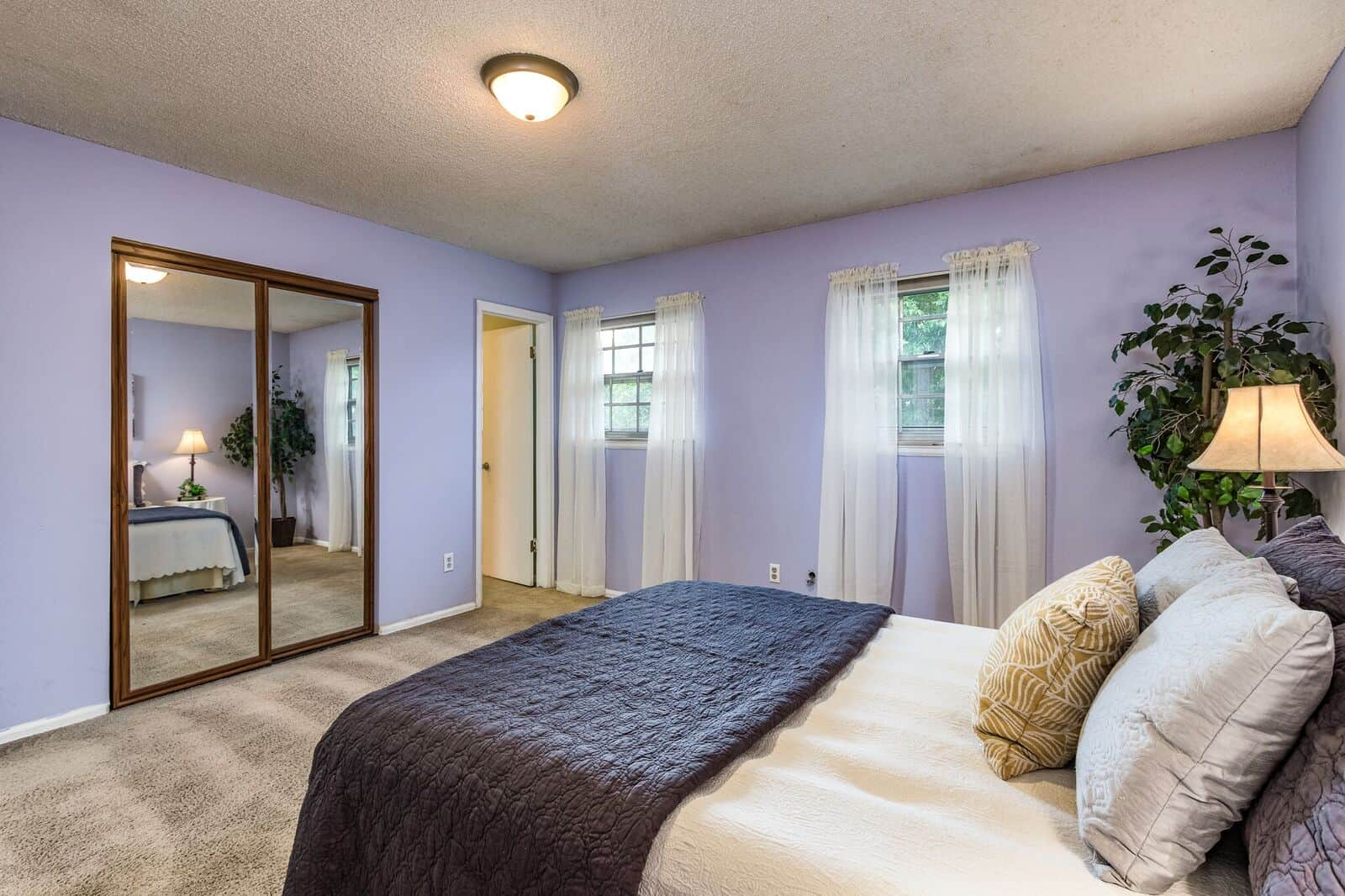 Master Bedroom with Entry to Upper Hall Bath