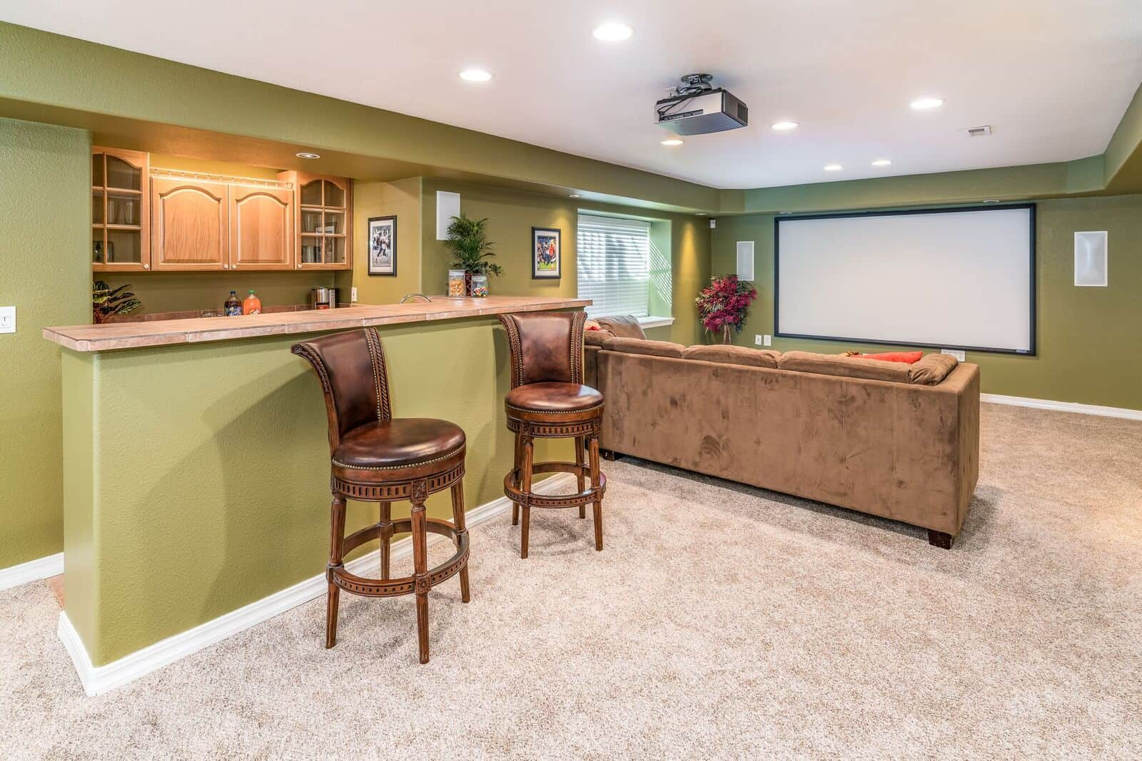 Theatre Room and Wet Bar