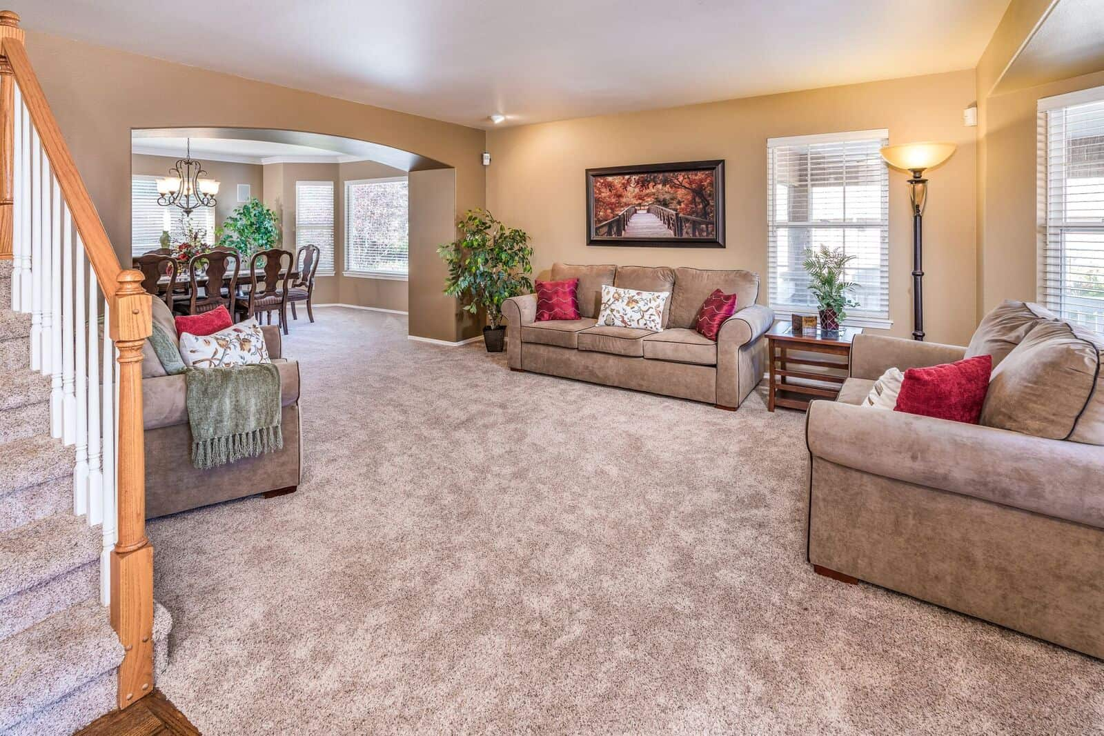Living Room into Dining Room