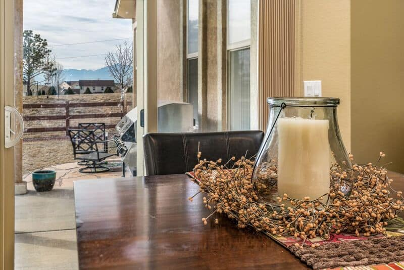Peak Views from the Dining Nook and Kitchen