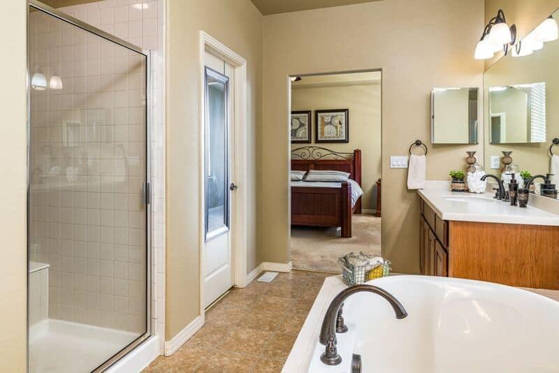 Master Bedroom into Master Bathroom