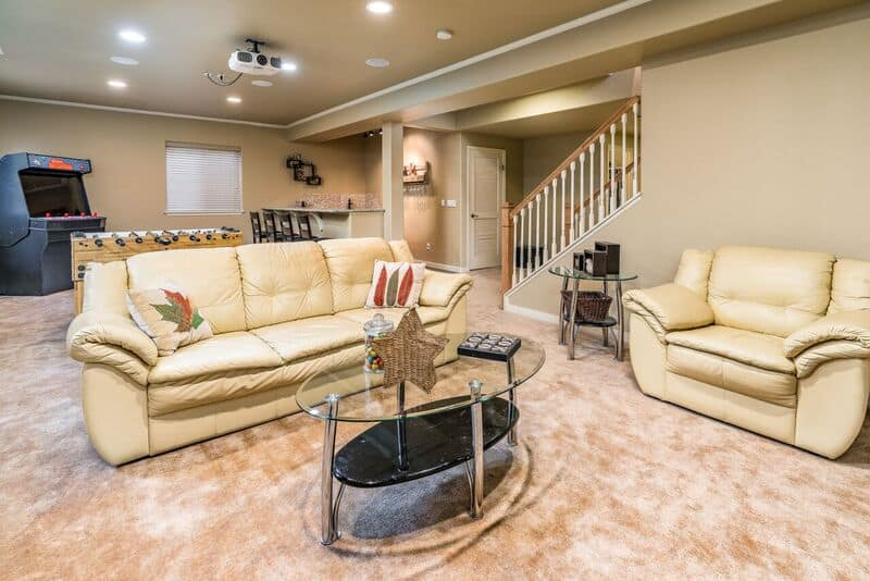 Recreation Room with Game Area and Wet Bar