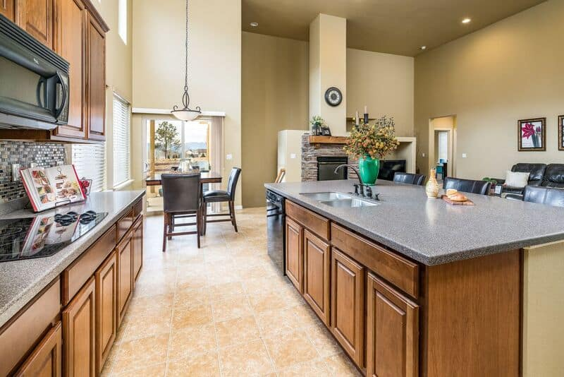 Kitchen Detail with Nook and Great Room