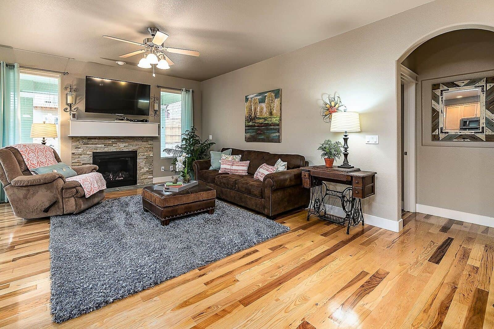 Great Room with Archway into Master Bedroom