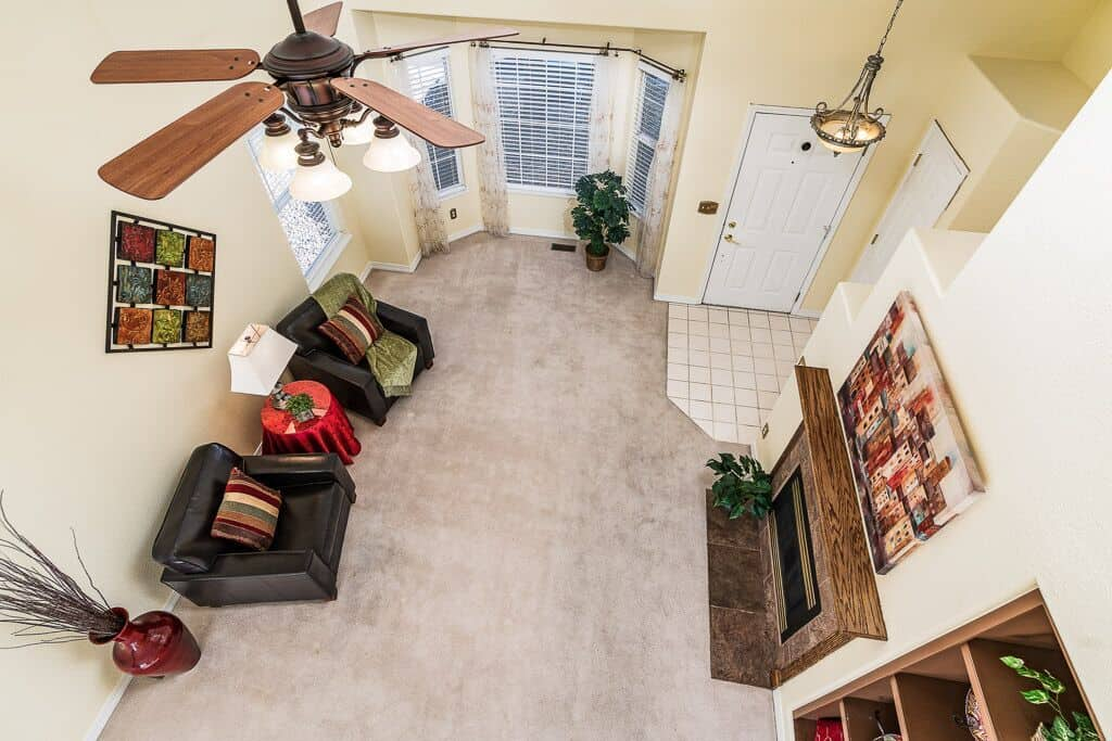 View of the Living Room from the Upper Loft