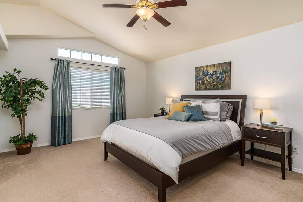 Upper Level Vaulted Master Bedroom
