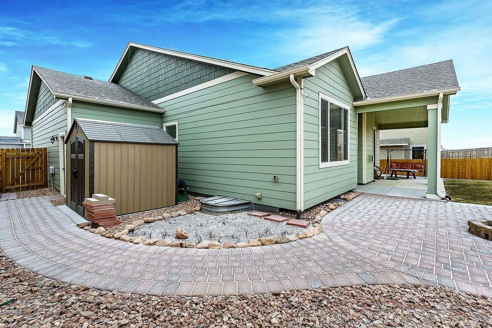 Side Yard with Storage Shed
