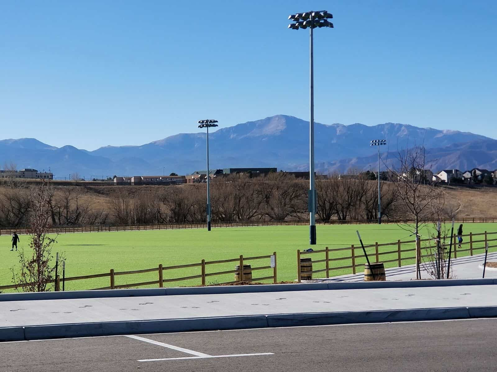 Venezia Park has Great Views, Playing Fields, and Tennis Courts