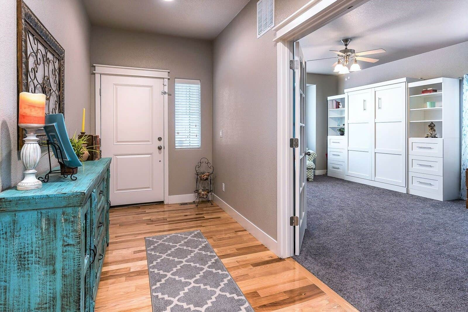 Entry into Front Bedroom or Office
