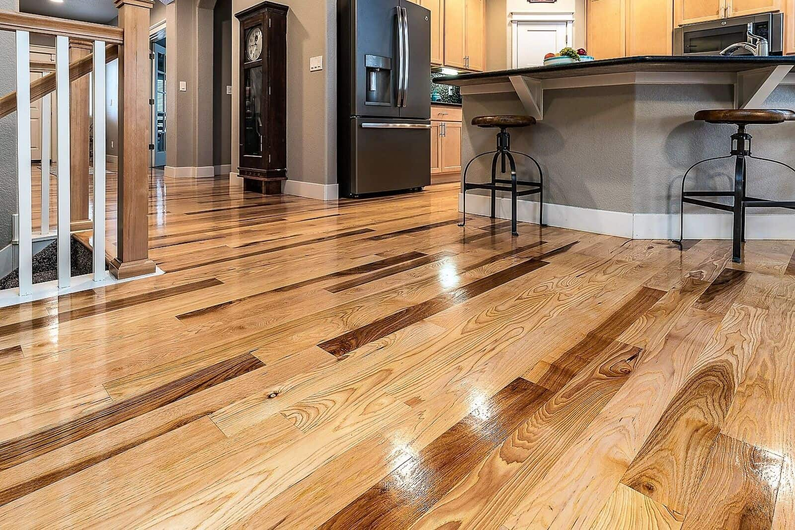 Gorgeous hickory floors