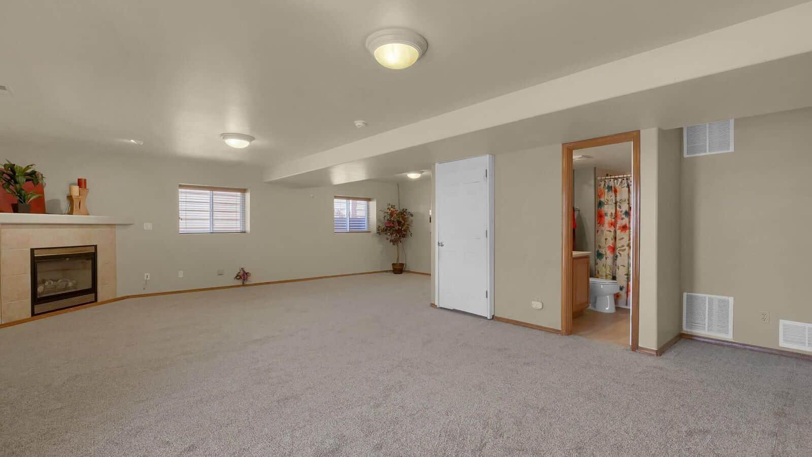 Large Open Walk-Out Basement Rec Room