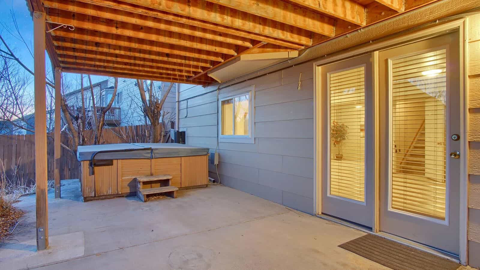 Walkout from Basement to Covered Patio