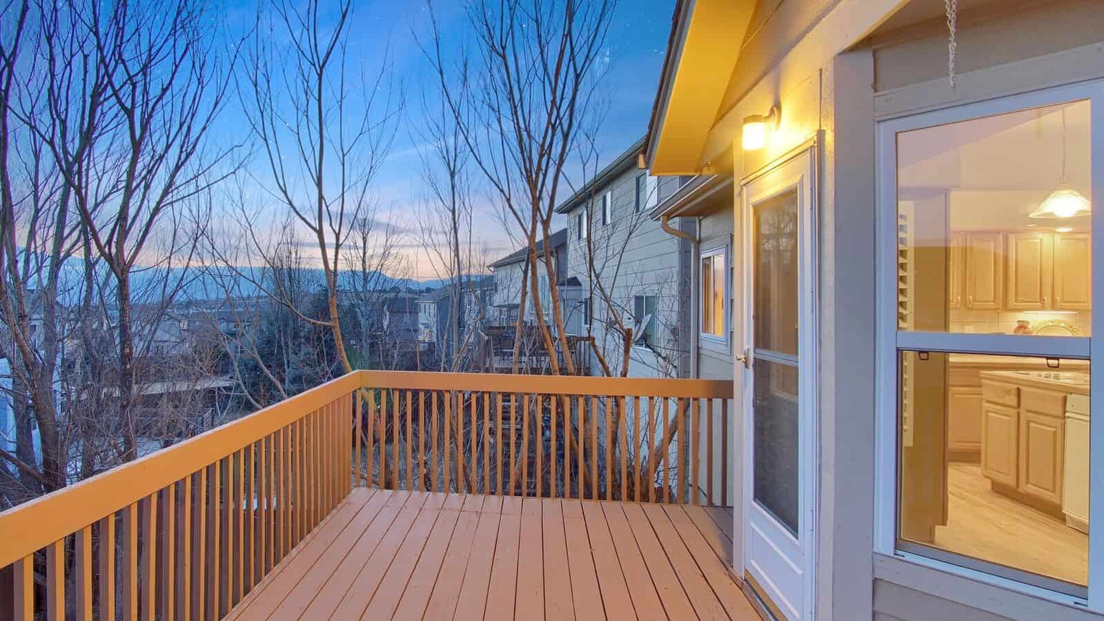 Great Sunset Views from Deck