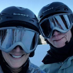 Don and Vicki skiing in Breckenridge