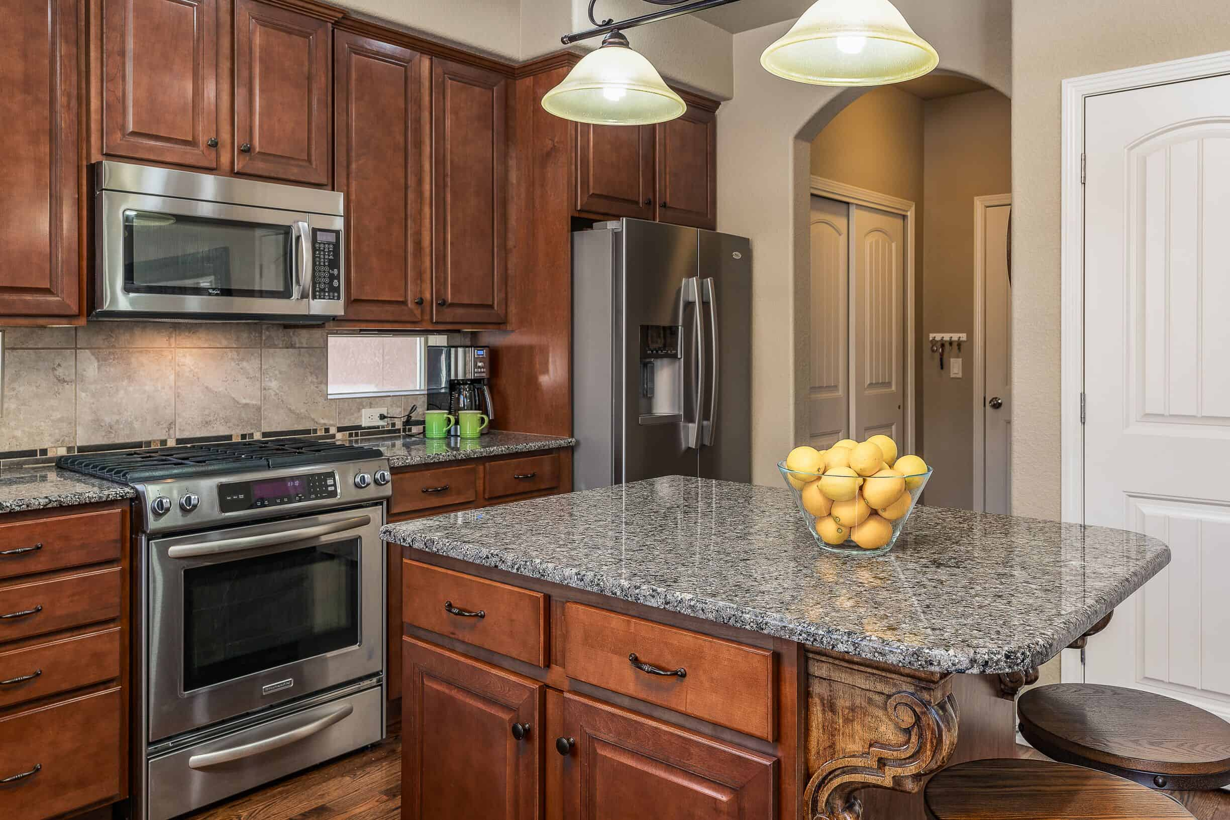 Kitchen with Counter Bar at Island