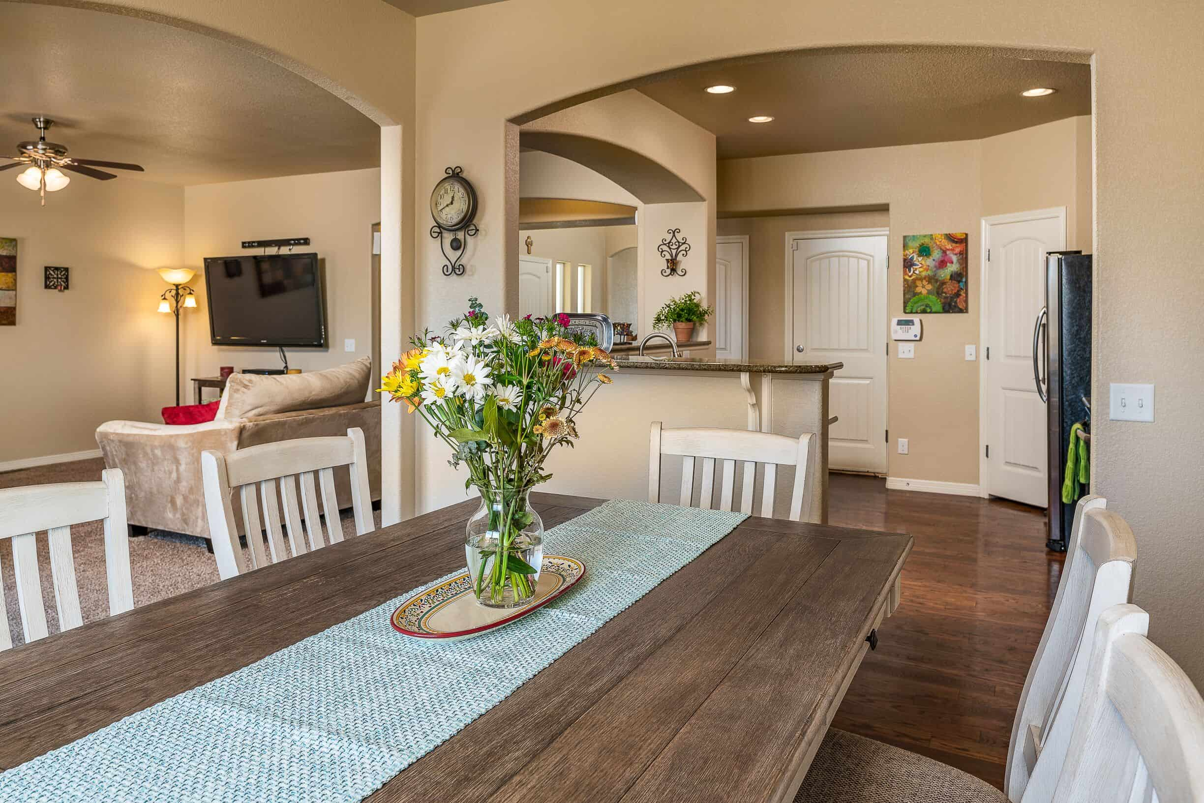 Dining Room into Kitchen and Great Room