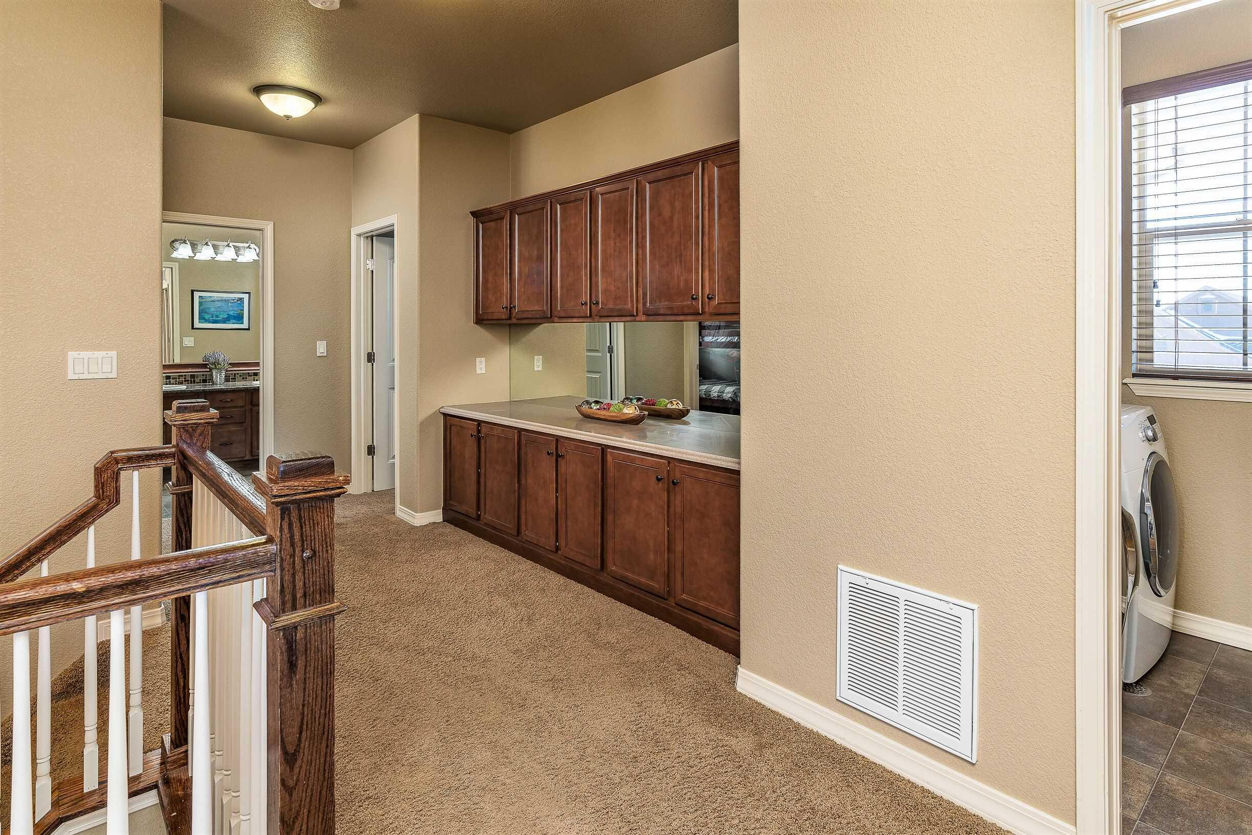 Upper Hall Cabinets and Door into Laundry
