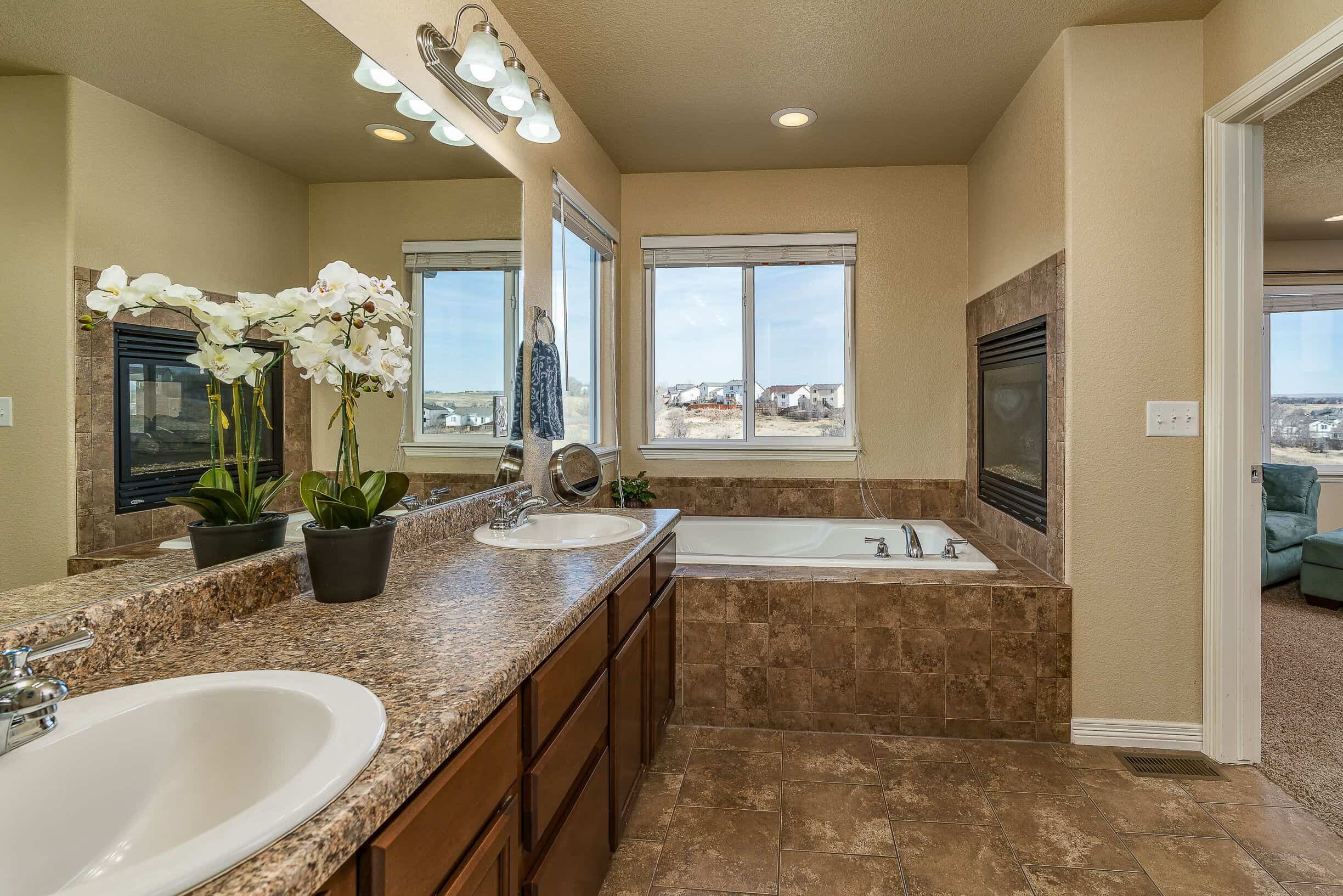 5pc Master Bathroom with Fireplace