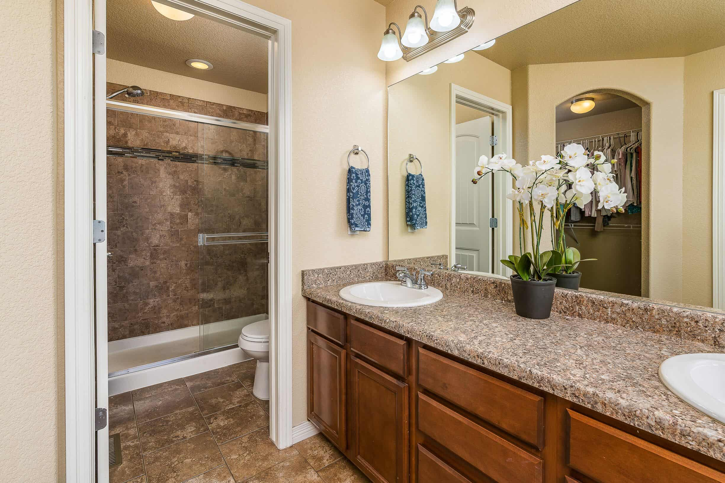 Master Bathroom with Separate Shower and Toilet Room