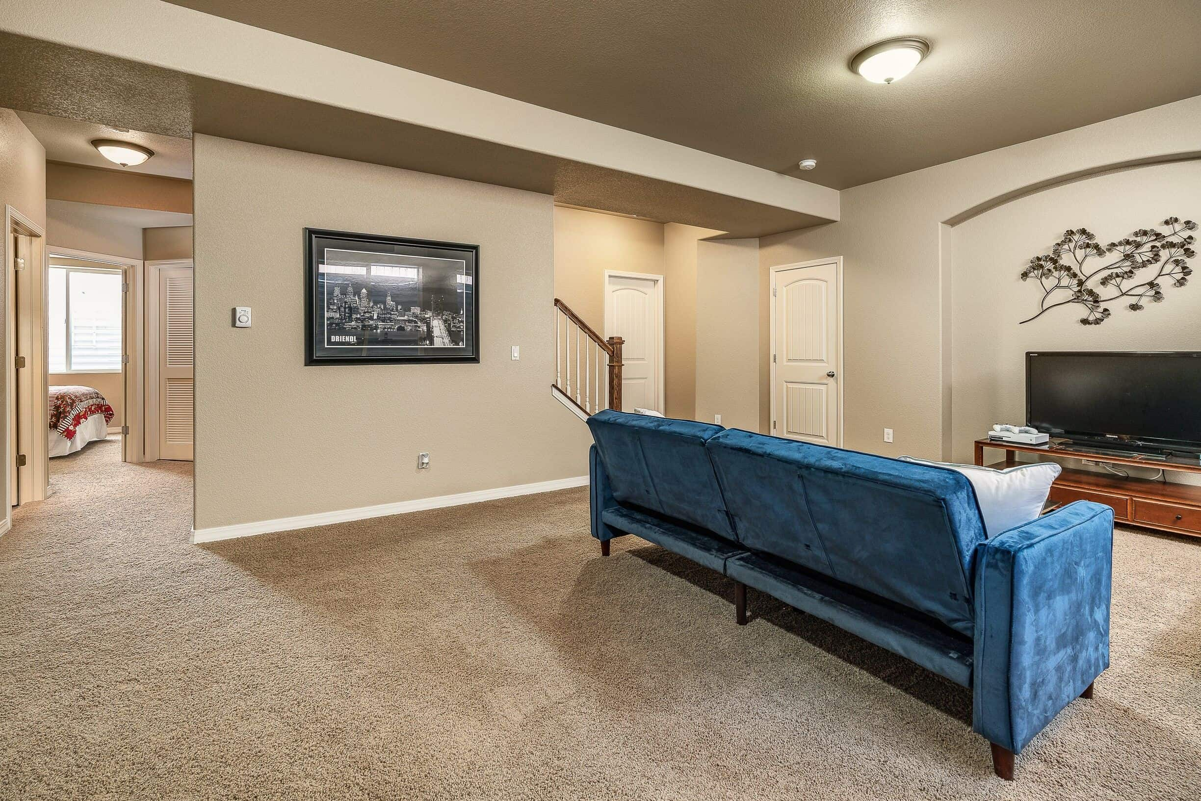 Stairway into Basement and Recreation Room