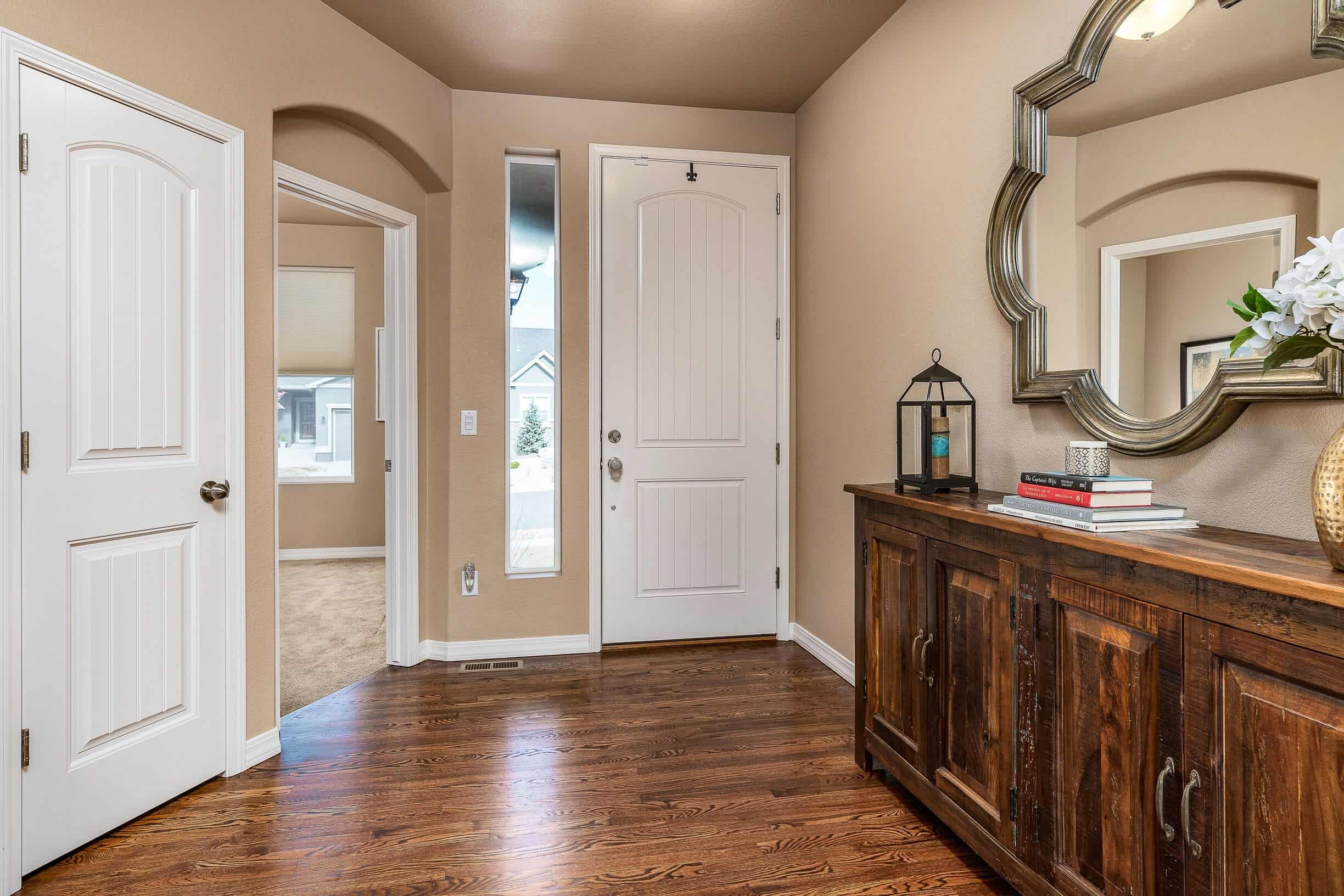 Entry with Door to Front Bedroom