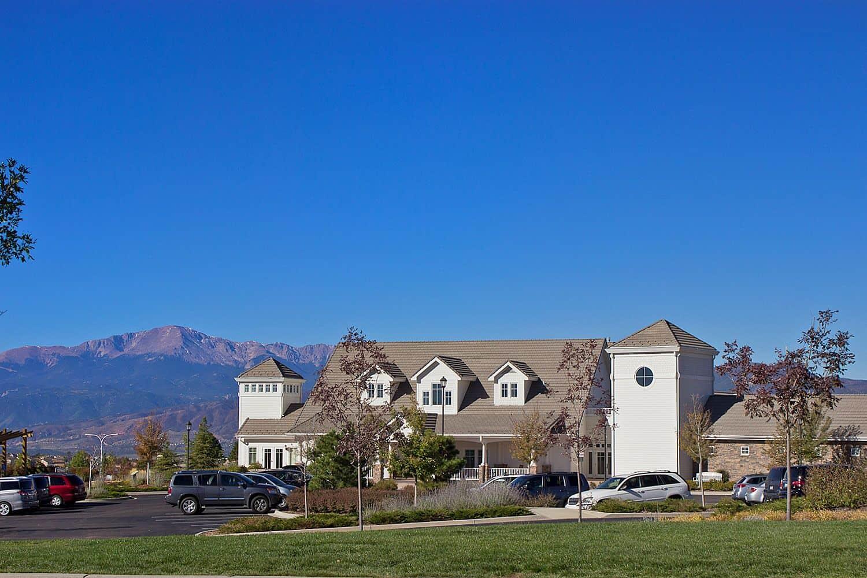 Cordera Community Center with Pikes Peak Views