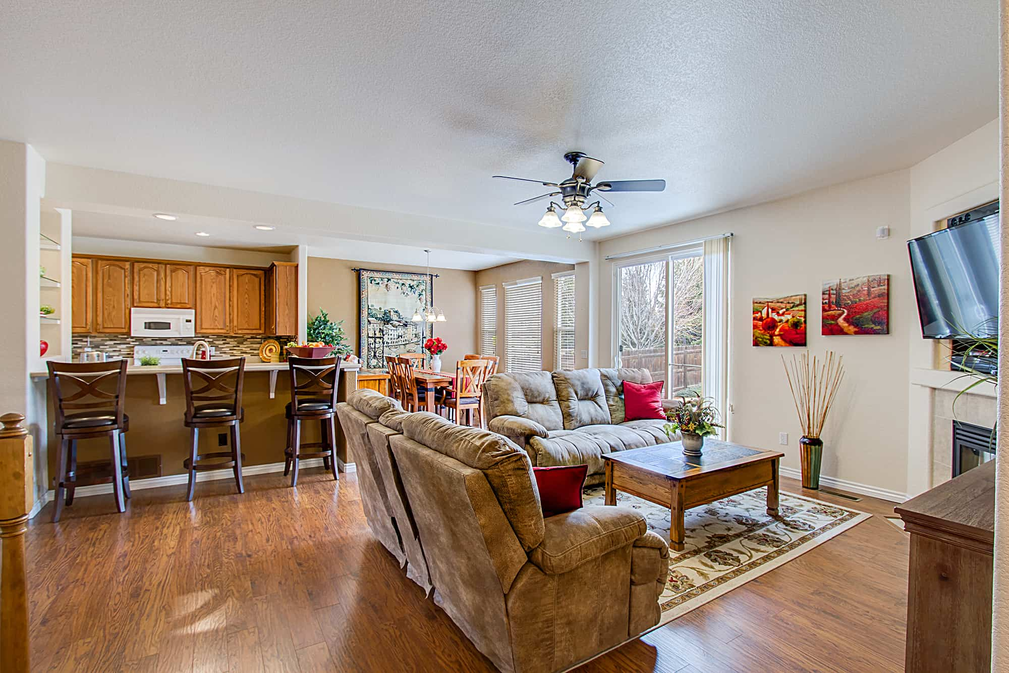 Great Room, Kitchen, Dining Room