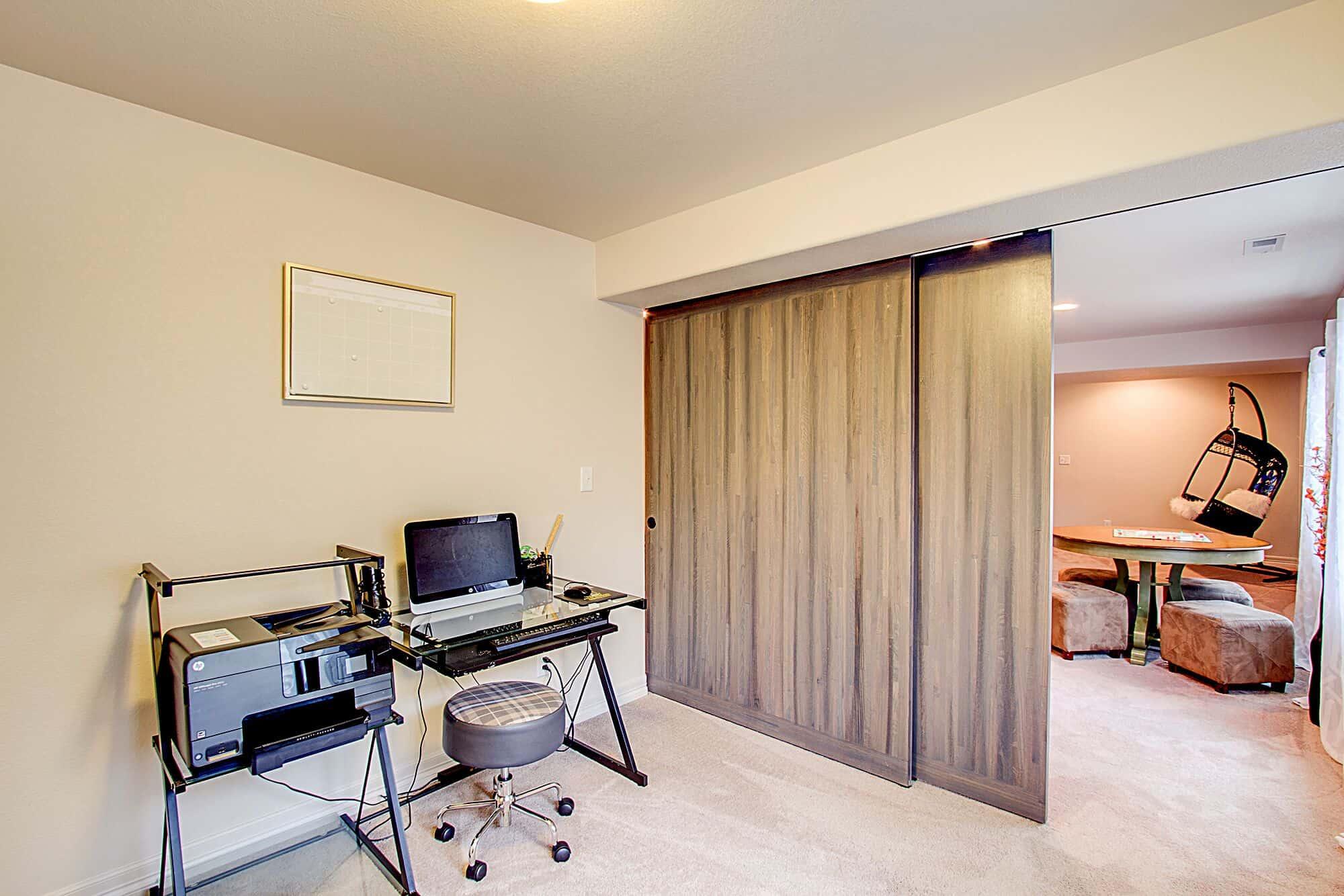 Barn Doors on Office/Flex Room