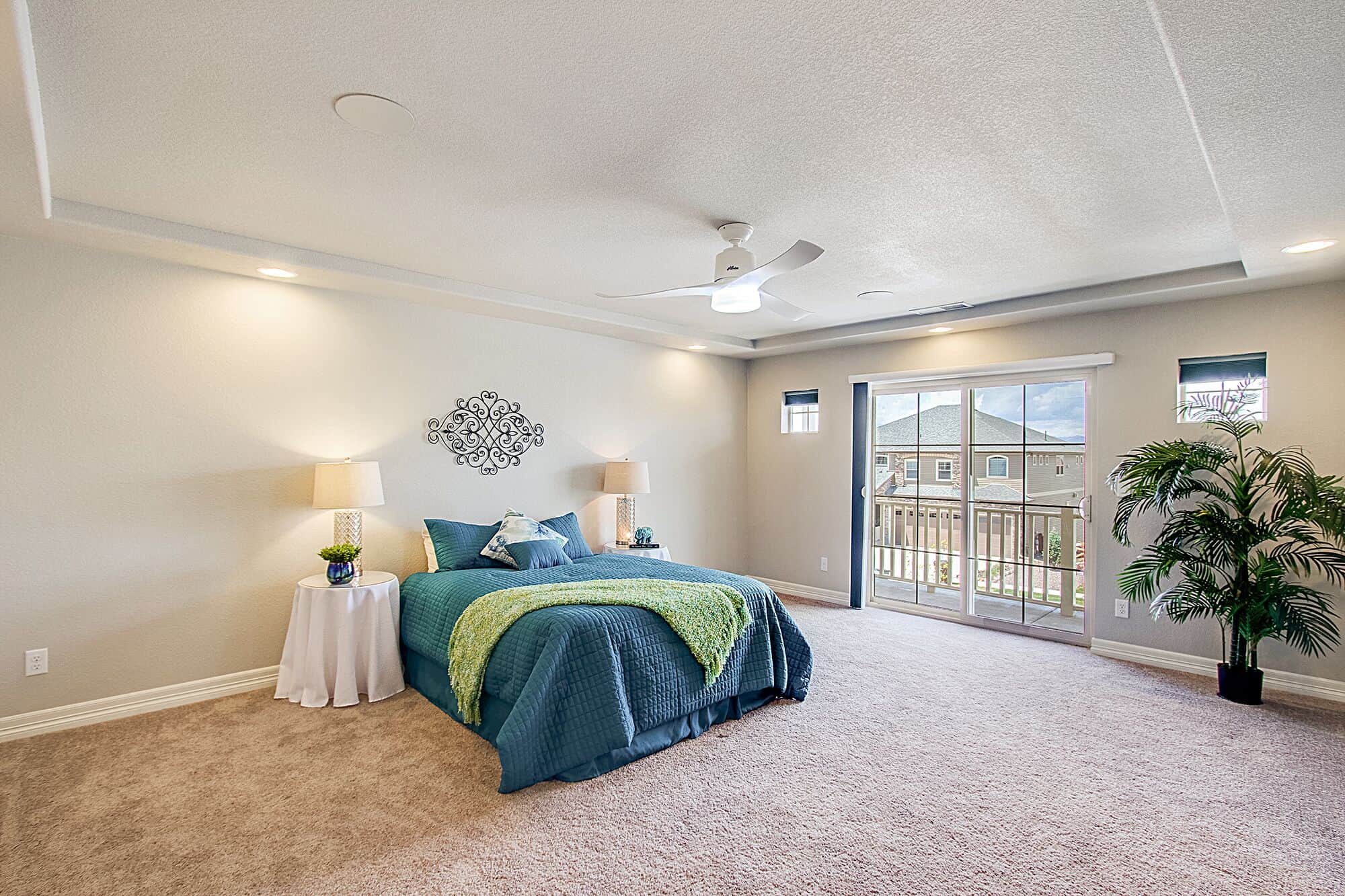 Upper Level Master Bedroom with Walk-Out to Balcony
