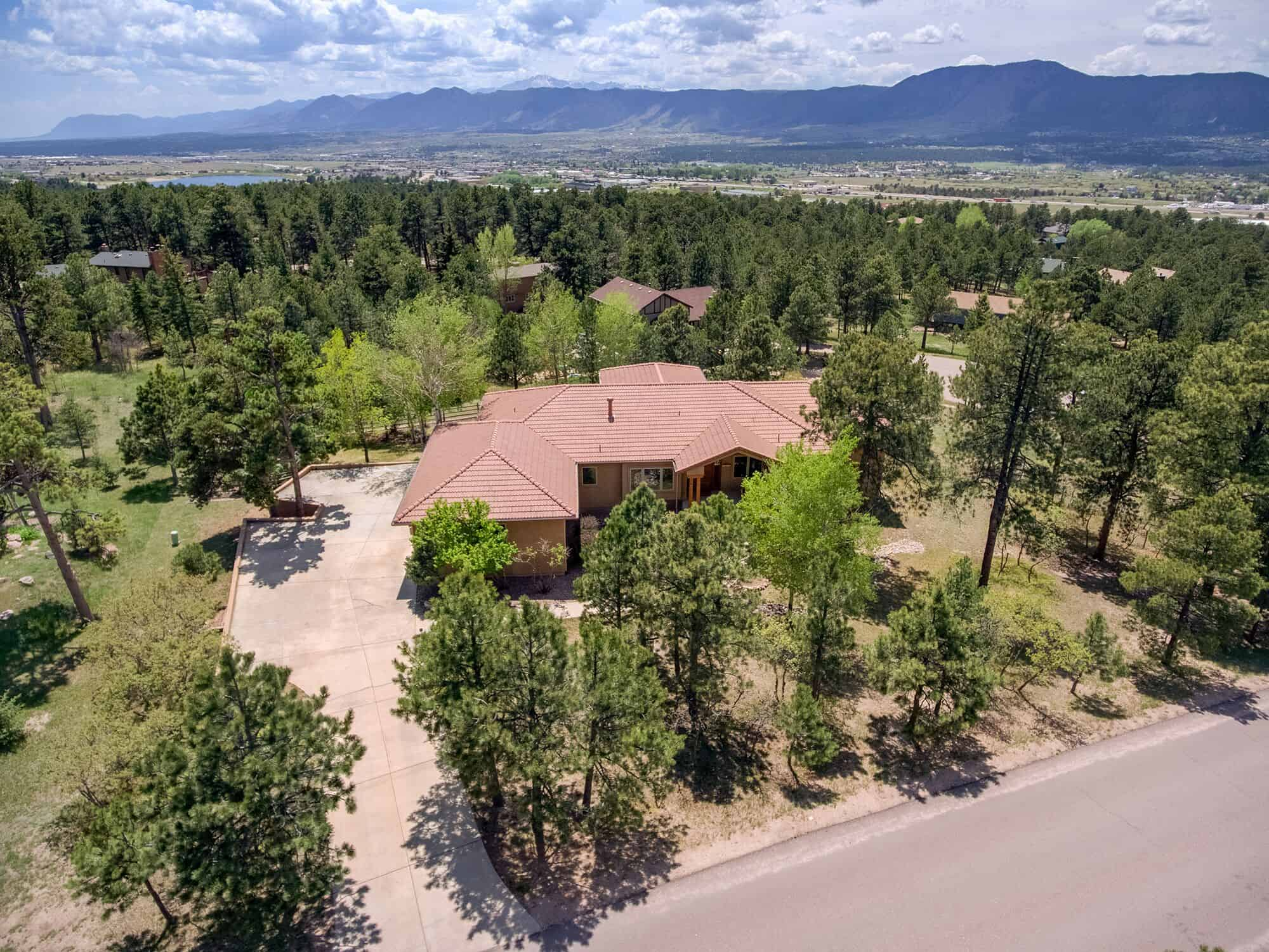 Aerial View of .73 Acre Woodmoor Lot