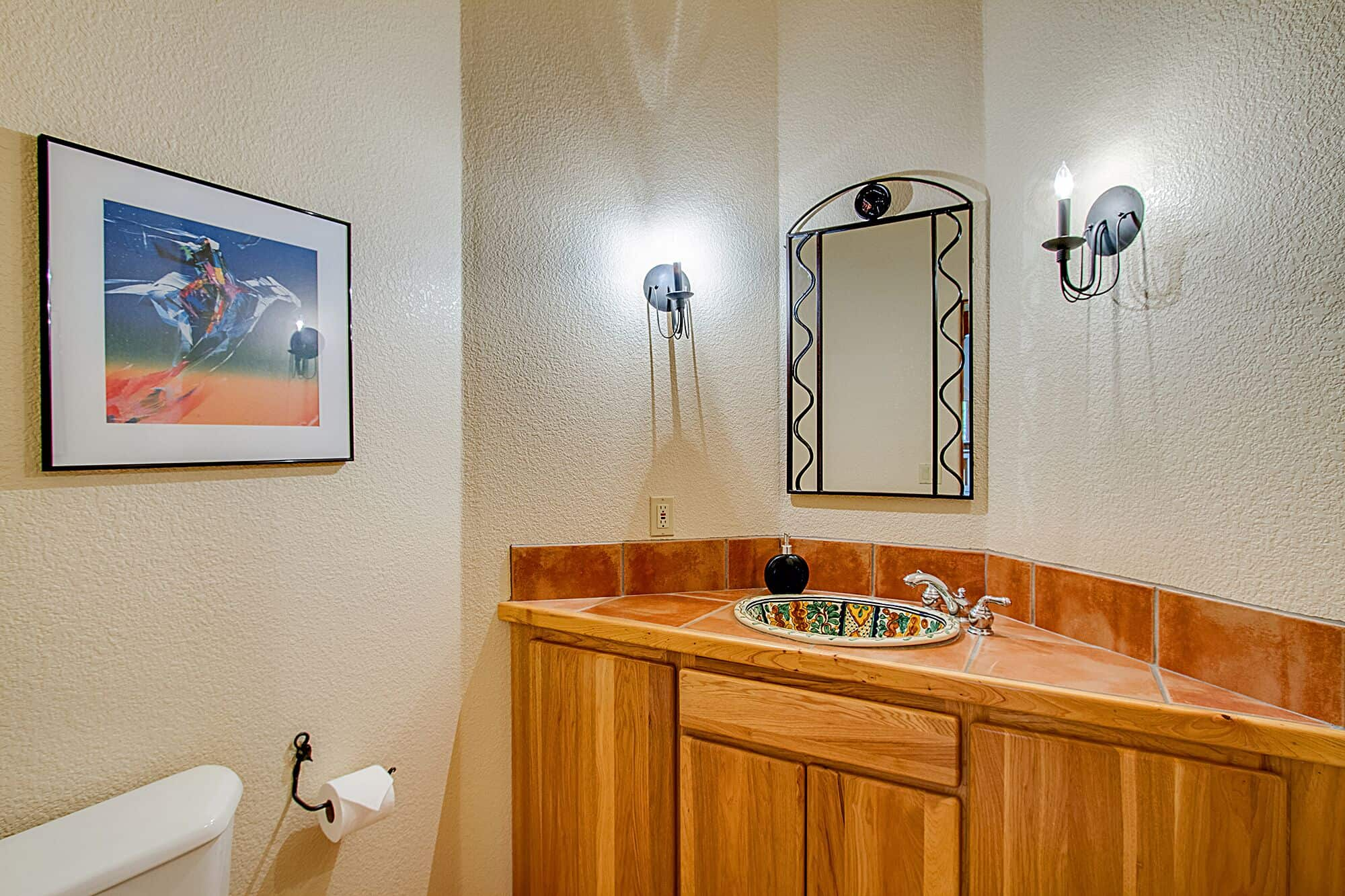 Powder Bath with Painted Sink